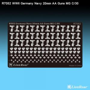 WWII German Navy 20mm AA Gun Flak 30 · LIO R7052 ·  Lion Roar · 1:700