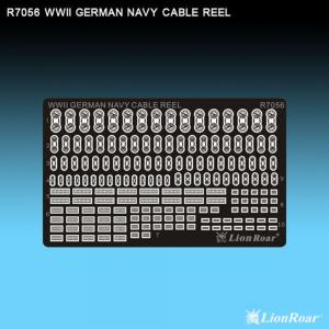 WWII German Navy cable reels · LIO R7056 ·  Lion Roar · 1:700
