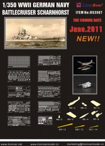 WWII German Navy Battlecr.Scharnh. f/DML · LIO RS3507 ·  Lion Roar · 1:350