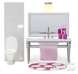 Smaland: Badezimmer incl. Beleuchtung · LUN 60204900 ·  Lundby · 1:18