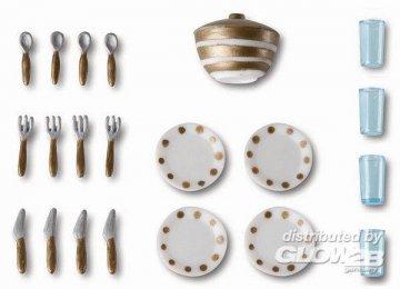 Smaland: Geschirr und Besteck · LUN 60508400 ·  Lundby · 1:18