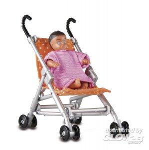 Smaland: Baby und Kinderwagen · LUN 60508500 ·  Lundby · 1:18