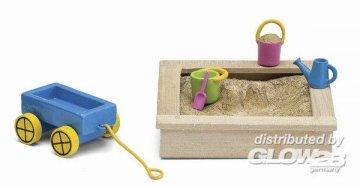 Smaland: Sandkasten-Set · LUN 60508600 ·  Lundby · 1:18