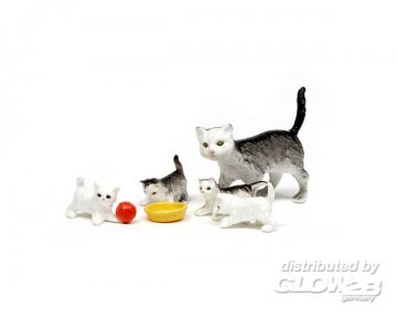 Smaland: Katzenfamilie · LUN 60803800 ·  Lundby · 1:18