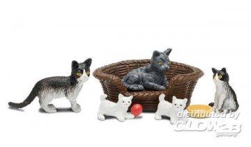 Smaland: Katzenfamilie · LUN 60804200 ·  Lundby · 1:18