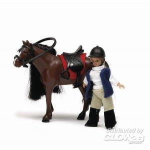 Smaland: Pferd und Mädchen · LUN 60804300 ·  Lundby · 1:18