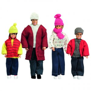 Smaland: Puppenfamilie in Winterkleidung · LUN 60805200 ·  Lundby