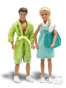 Stockholm: Eltern in Schwimmkleidung · LUN 60901800 ·  Lundby · 1:18