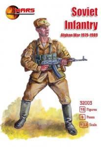 Soviet infantry, Afghan War 1979-1989 · MRF 32003 ·  Mars Figures · 1:32