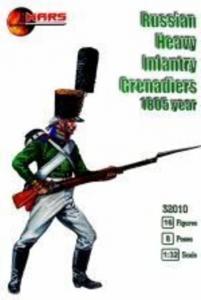 Russian heavy infantry grenadiers,1805 · MRF 32010 ·  Mars Figures · 1:32