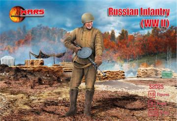 WWII Russian infantry · MRF 32025 ·  Mars Figures · 1:32