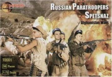 Russian paratroopers, Afghan war · MRF 72001 ·  Mars Figures · 1:72