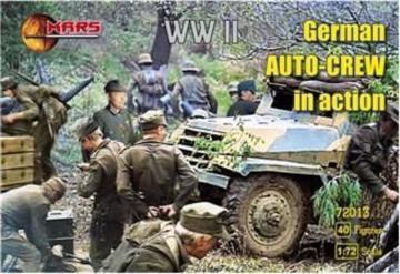 WWII German auto-crew in action · MRF 72013 ·  Mars Figures · 1:72