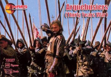 Arquebusiers, 30 years war · MRF 72027 ·  Mars Figures · 1:72