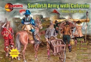Swedish Army with culverin, 30 years war · MRF 72031 ·  Mars Figures · 1:72