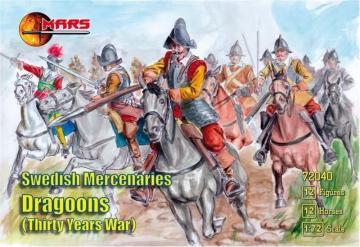 Swedish Mercenaries Dragoons, 30 Y. War · MRF 72040 ·  Mars Figures · 1:72