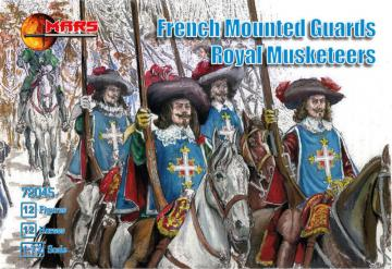French mounted guards, Royal Musketeers · MRF 72045 ·  Mars Figures · 1:72