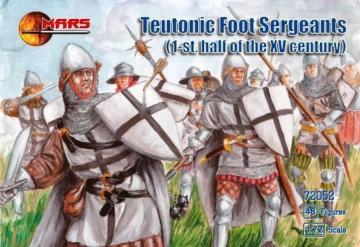Teutonic foot sergeants, 1st half of XV · MRF 72052 ·  Mars Figures · 1:72
