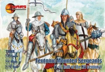 Teutonic mounted sergeants, 1st half XV · MRF 72053 ·  Mars Figures · 1:72