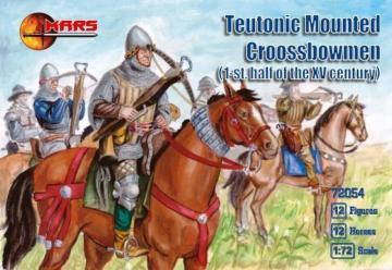 Teutonic mounted crossbowmen, 1st h/XV · MRF 72054 ·  Mars Figures · 1:72