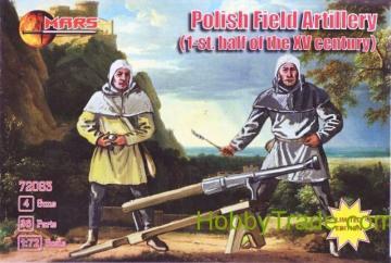 Polish field artillery, 1st half XV cent · MRF 72063 ·  Mars Figures · 1:72