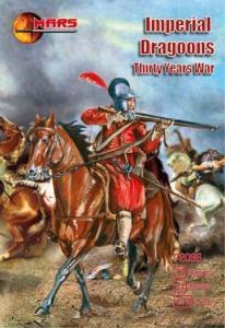 Imperial dragoons, Thirty Years War · MRF 72096 ·  Mars Figures · 1:72