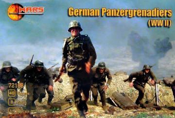 WWII German panzergrenadiers · MRF 72108 ·  Mars Figures · 1:72