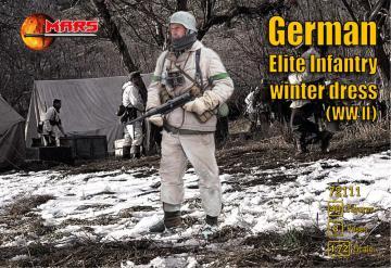 WWII German elite infantry - Winter dress · MRF 72111 ·  Mars Figures · 1:72