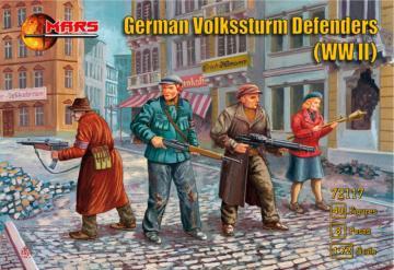 WWII German Volkssturm Defenders · MRF 72117 ·  Mars Figures · 1:72