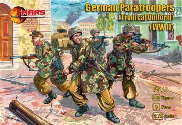 WWII German paratroopers (Tropical uniform) · MRF 72119 ·  Mars Figures · 1:72