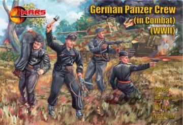 German Panzer Crew (in Combat) WWII · MRF 72122 ·  Mars Figures · 1:72