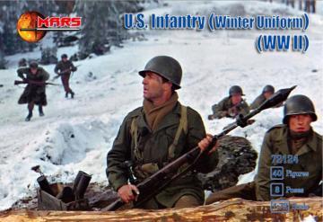 WWII U.S. Infantry (Winter Uniform) · MRF 72124 ·  Mars Figures · 1:72