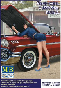 Pin-up series - A short stop - Kit No. 2 · MBO 24016 ·  Master Box Plastic Kits · 1:24
