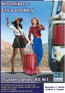 Hitchhikers, Erica and Kery - Truckers series - Kit No.1 · MBO 24041 ·  Master Box Plastic Kits · 1:24