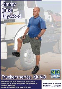Jimmy (Tex) Haywood - Truckers series - Kit No. 3 · MBO 24043 ·  Master Box Plastic Kits · 1:24