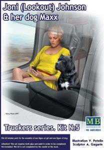 Joni (Lookout) Johnson & dog Maxx - Trucker series · MBO 24045 ·  Master Box Plastic Kits · 1:24