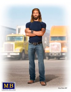 Truckers series - Holy Roller Jordan Jesus Jamerson · MBO 24060 ·  Master Box Plastic Kits · 1:24