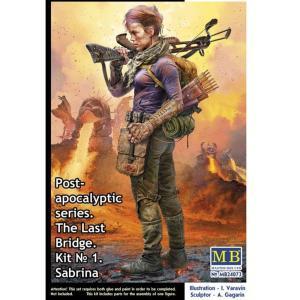 Post-Apocalyptic series. The last bridge. Kit No.1. Sabrina · MBO 24073 ·  Master Box Plastic Kits · 1:24