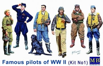 Famous WWII pilots set · MBO 3201 ·  Master Box Plastic Kits · 1:32