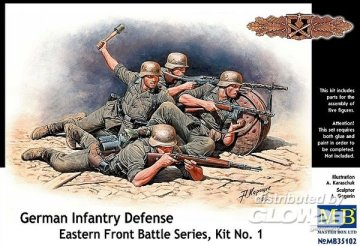 German infantry defense, Eastern Front · MBO 35102 ·  Master Box Plastic Kits · 1:35