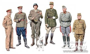 The Generals of WWII · MBO 35108 ·  Master Box Plastic Kits · 1:35