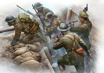 British Infantry before the Attack WWI · MBO 35114 ·  Master Box Plastic Kits · 1:35