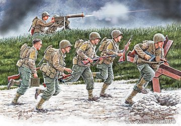 Move US Soldiers, Operation Overlord 1944 · MBO 35130 ·  Master Box Plastic Kits · 1:35