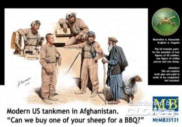 Modern U.S. tankmen in Afghanistan · MBO 35131 ·  Master Box Plastic Kits · 1:35