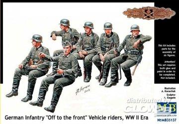 German infantry vehicle riders · MBO 35137 ·  Master Box Plastic Kits · 1:35