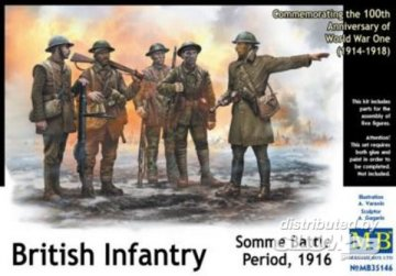 British Infantry, Somme Battle Period 1916 · MBO 35146 ·  Master Box Plastic Kits · 1:35