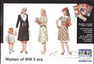 Women of WWII · MBO 35148 ·  Master Box Plastic Kits · 1:35