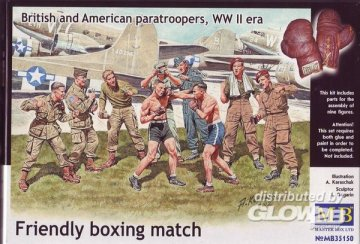 Friendly boxing match.Brit.+Amer.paratro · MBO 35150 ·  Master Box Plastic Kits · 1:35