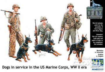 Dogs in service in US Marine Corps · MBO 35155 ·  Master Box Plastic Kits · 1:35