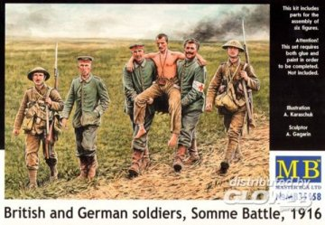 British & German Soldiers 1916 · MBO 35158 ·  Master Box Plastic Kits · 1:35